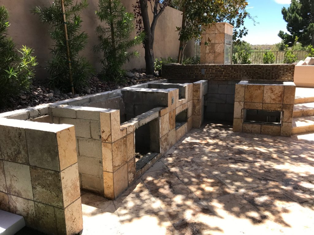 Existing Cinder Block Outdoor Kitchen Structure Bbq Concepts