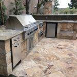 Before Photo of Outdoor Kitchen Remodel