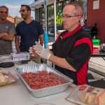 Chef Phillip Dell Preparing Hamburger Patties