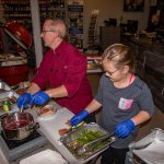 Chef Phillip Dell & Chef Tatem Cerul Instructing the Ultimate Holiday Grilling Class