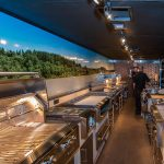 Interior Almo Trailer with Alfresco Open Air Culinary Systems Components
