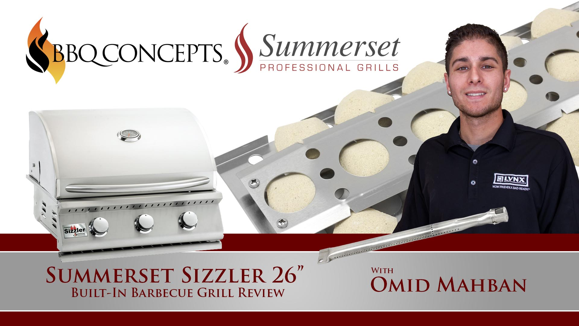 Summerset Sizzler 26 Inch Barbecue Grill Review - Featured by Omid Mahban of BBQ Concepts of Las Vegas, Nevada