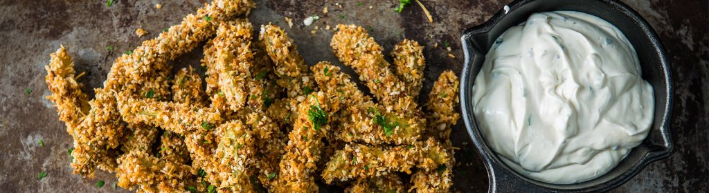 Traeger Wood Pellet Grills Recipe - Baked Pickles with Buttermilk