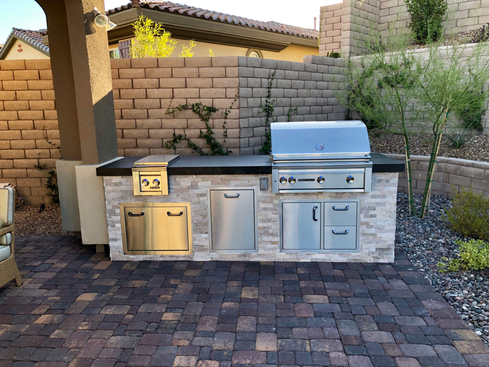Custom Outdoor Kitchen by BBQ Concepts of Las Vegas, Nevada - Your source for professional outdoor kitchens, barbecue grills, components, and accessories