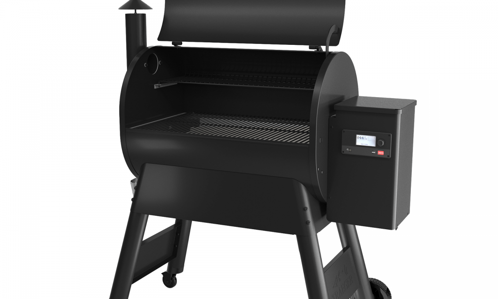 BBQ Concepts-Traeger P780 Black - Lid Opened
