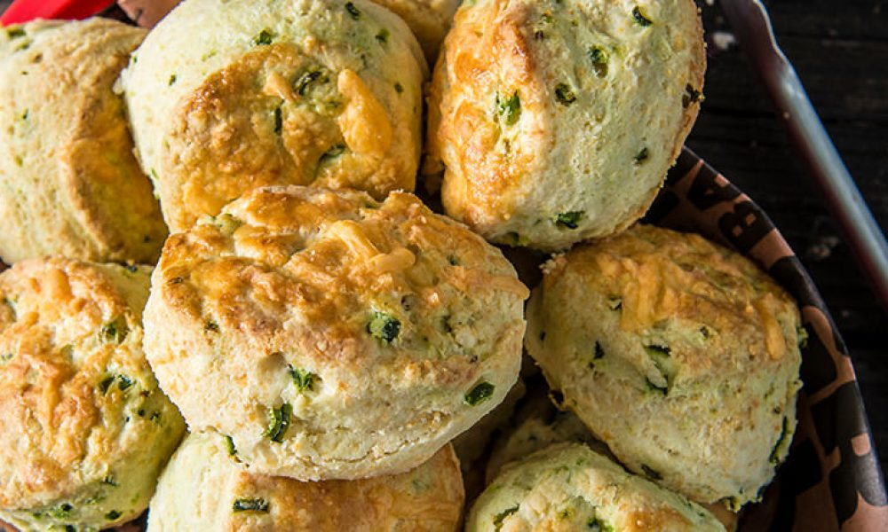 Traeger Recipe Cheddar Poblano Biscuits Traeger Wood Fired Grills