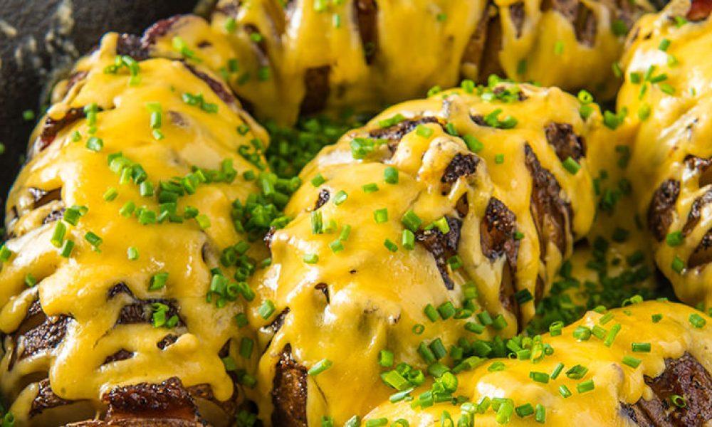 Traeger Recipe - Hassleback Potatoes Traeger Wood Fired Grills
