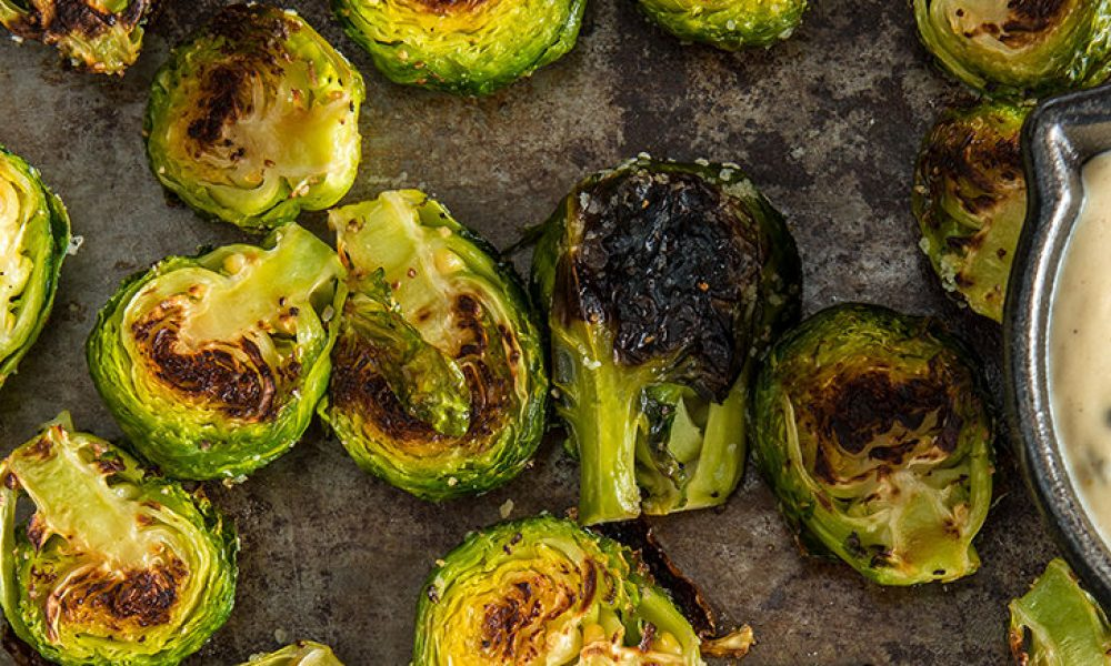 Traeger Recipe - Roasted Brussels Sprouts Cheddar Cream Traeger Wood Pellet Grills